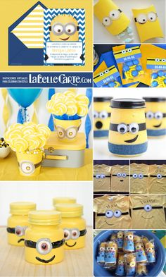 Invitaciones Infantiles, Invitaciones para fiestas infantiles, Recuerdos de cumpleaños de Minions, DIY Minions  Para Más Info Visita: www.LaBelleCarte.com  Online birthday kids invitations, Online birthday kids cards, minion favors, diy minion favors, minion ideas, minion birthday favors  For More Ideas Visit: www.LaBelleCarte.com/en