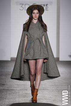 An adorable dress plus a dramatic cape.  Samantha Pleet Fall 2012