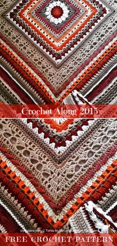 Crochet Along Throw Free Crochet Pattern | DIY