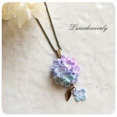 Lunar.h 紫陽花のネックレス ¥3,000