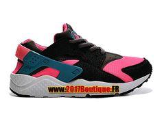 new style fab48 e6cb7 Nike Huarache Run (PS) Chaussure Officiel 2017 Pas Cher Pour Enfant Noir/ Rose
