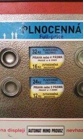 Prague Public Transport Ticket Machine