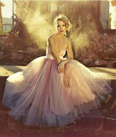 Dusty Rose Tulle
