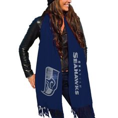 Seattle Seahawks Women's College Navy Team Scarf
