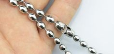 20pcs 20inch 4.5mm 316L stainless steel olive shape by aliyafang, $42.00