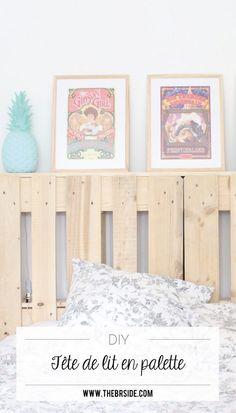 Tutoriel pour construire une tête de lit en palette facilement ! Ma tête de lit en palette par The Bright Side - DIY - Hand made - Home made