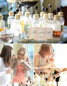 perfume bar for bridal shower