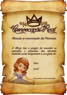 Convite Pergaminho Princesa Sofia