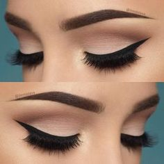 10 Hottest Eye Makeup Looks – Makeup Trends: Natural Smokey Eye with Thick Eyeliner Makeup Goals, Love Makeup, Beauty Makeup, Perfect Makeup, Gorgeous Makeup, Elegant Makeup, Makeup Style, Perfect Eyeliner, Amazing Makeup