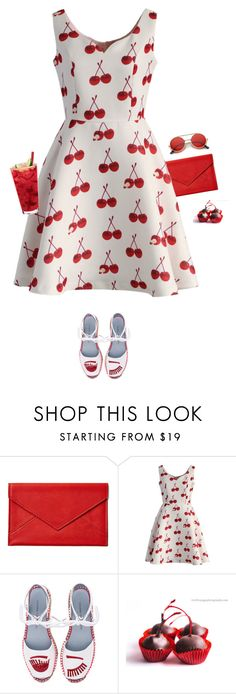 """""""CHERRIES"""" by mimas-style ❤ liked on Polyvore featuring Graphic Image, Chicwish and Chiara Ferragni"""