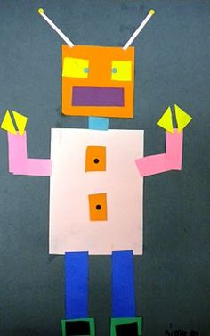 1st Grade- Geometric Shape Robots