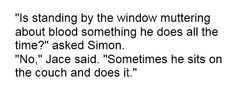 Simon and Jace ~ City of Bones, by Cassandra Clare