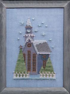 Four Seasons Country View Road Tree Hills Cottage Cross Stitch Pattern
