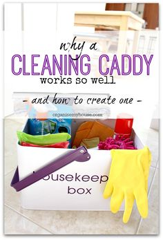 If you want to make cleaning your home quicker and easier then you want to look at creating your own cleaning caddy - here's how...