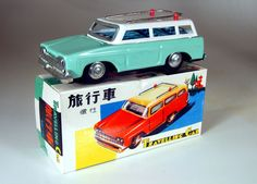 Vintage Tin Friction Travelling Car Green MF731 from Red China, dating from the mid 70's by bobboot on Etsy
