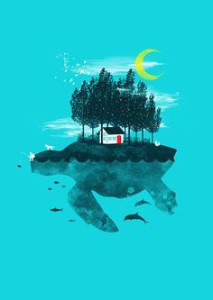 Pop surrealism illustration by Steven Toang Wei Shang, via Behance