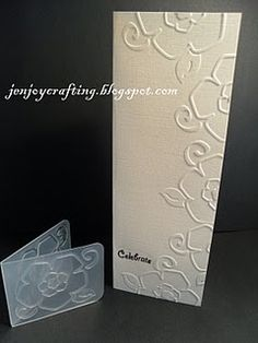 Great idea to offset little embossing folders on a card.