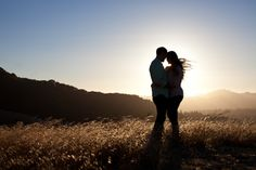 Summer engagement pictures at sunset
