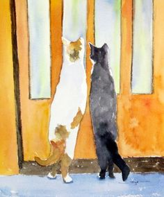 Nancys Art To Go on Etsy - Curious Cats