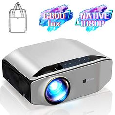 """GooDee YG620 Native 1080p Projector 6800 Lux 300"""" Full HD LCD Video Projector 1920x1080 Home & Business & Outdoor Pro... Best Home Theater Projector, Best Projector, Movie Projector, Home Theater Projectors, Outdoor Projector, Projector Reviews, Hd Video, Nativity, Tv"""