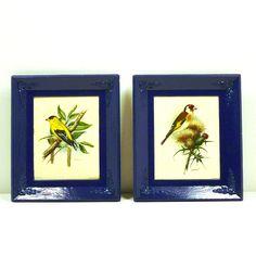 #art #birds #print #decor #indigo #vintage #nashpop #upcycled