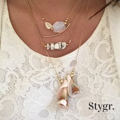 Mix and match necklaces - Gold. Stygr. - Handmade Designs.   www.stygr.com