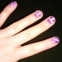 DIY marble nail design.