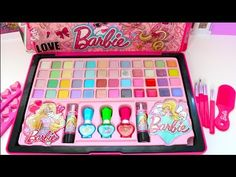 Barbie Deluxe Makeup Cosmetic Set Glitter Lip Gloss Unique Boutique مكيا...
