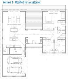 House Plan Modern House Plan to Modern Family. Garage House Plans, Best House Plans, Bedroom House Plans, Dream House Plans, Modern House Plans, Small House Plans, Modern House Design, U Shaped House Plans, U Shaped Houses
