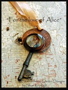 """For the Love of Alice"" pendants."