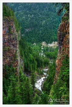 Canyon at Spahats Falls, Wells Gray Provincial Park, British Columbia