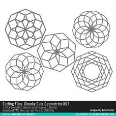 Cutting Files: Chunky Cuts Geometrics No. 01- Katie Pertiet Elements- EL254247- DesignerDigitals
