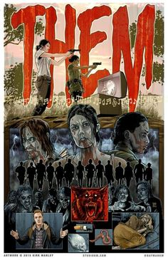 "The Walking Dead Artwork by Kirk Manley. Season 5/10 - ""Them"""