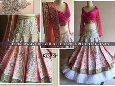 12406f09b9b Off White And Peach Banarasi And Net Bangalore Silk Fabric Machine Work  Embroidered And Sequnce Lehenga