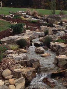 Waterfall and stream created by Hoaglandscape. #WaterfallWednesday