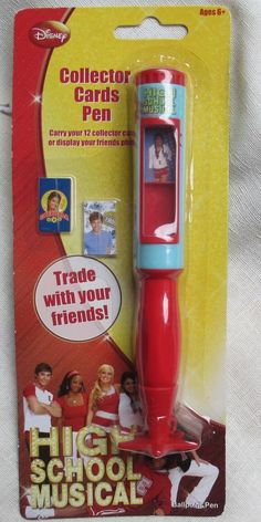 HIGH SCHOOL MUSICAL BALLPOINT PEN & MINI COLLECTOR CARDS THAT FIT INSIDE!  #STYLUS