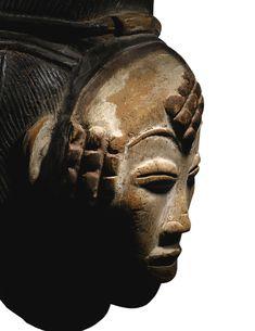 Punu (Lumbo) Okuyi Mukudj Mask, Gabon https://www.imodara.com/discover/gabon-punu-okuyi-female-mourning-mask-central-style/