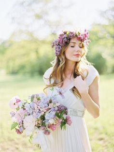 Elegant purple free-form bouquet