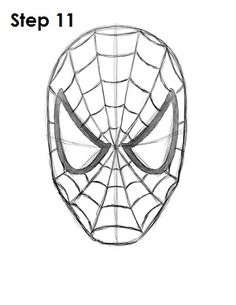 How to Draw Spider-Man Step 11 Avengers Drawings, Avengers Art, Marvel Art, Spiderman Drawing, Spiderman Art, How To Draw Spiderman, Easy Drawing Tutorial, Realistic Drawings, Easy Drawings