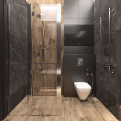 + ideas for beautiful bathroom designs for small spaces grey tiled walls, wooden floor, glass shower door, small bathroom ideas photo gallery ideas grey Bathroom Design Luxury, Bathroom Designs, Bathroom Ideas, Shower Bathroom, Wooden Bathroom, Vanity Bathroom, Remodel Bathroom, Budget Bathroom, Bathroom Renovations