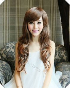 Synthetic Women Light Brown Long Wavy Wig Full Wigs Lady Girl Cosplay Party Hair 4Colors Halloween Gift