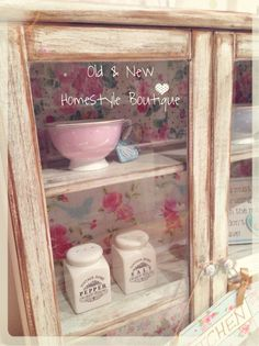 Pine cabinet dry brushed & waxed to give an aged wood look & transfers using chalk paint & water ❤️