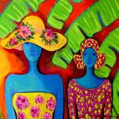 Blue goddesses by Nena Sanchez
