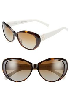 0d1ae9e61a2 Tory Burch 56mm Polarized Cat Eye Sunglasses available at  Nordstrom  Sunglasses Accessories