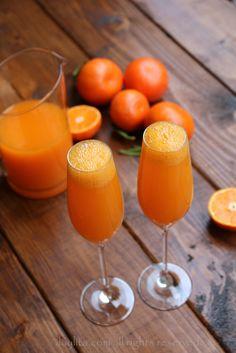 Mandarin mimosa cocktails