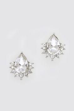 Crystal Mia Earrings in Gold