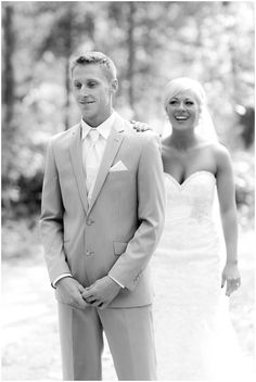 Amazing first look reactions of the groom seeing his bride for the first time!