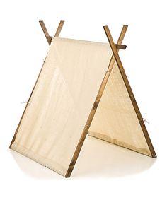 Burlap Play Tent