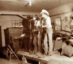 young George and Ace In The Hole Band in Cheatham Street Warehouse, 1975