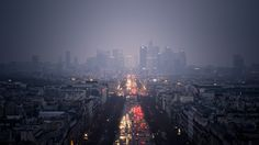 Download Wallpaper 3840x2160 City, Skyscrapers, Clouds, Rain, Road, Cars, Lights 4K Ultra HD HD Background